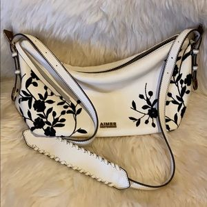 Aimee Kestenberg Leather Embroidered Crossbody NWT